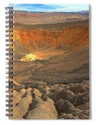 Draining Into The Crater Spiral Notebook