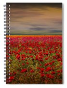 Drama Over The Flower Fields Spiral Notebook