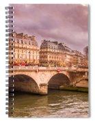 Dramatic Parisian Sky Spiral Notebook