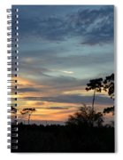 Dramatic Sunset In The Cove Spiral Notebook