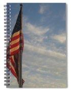 Draped American Flag Pole Dusk  Casa Grande Arizona 2004 Spiral Notebook