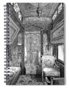Drawing-room Car, 1869 Spiral Notebook