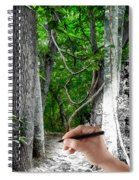 Drawn To The Woods With Imagination Spiral Notebook