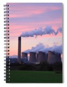 Drax Power Station At Sunset Spiral Notebook