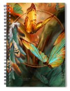 Dream Catcher - Spirit Of The Butterfly Spiral Notebook