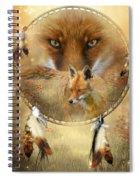 Dream Catcher- Spirit Of The Red Fox Spiral Notebook