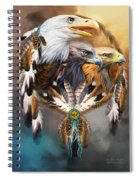 Dream Catcher - Three Eagles Spiral Notebook