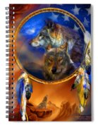 Dream Catcher - Wolf Dreams Patriotic Spiral Notebook