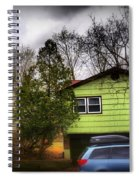 Suburban Dream - House With Blue Car Spiral Notebook