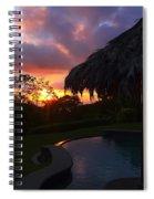Dream Sunset In Costa Rica Spiral Notebook