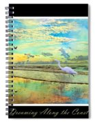 Dreaming Along The Coast -- Egret  Spiral Notebook