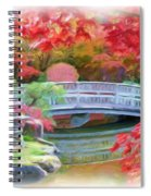 Dreaming Of Fall Bridge In Manito Park Spiral Notebook