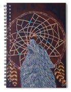 Dreaming Wolf Spiral Notebook