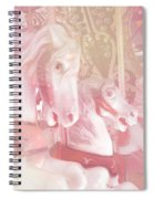 Dreamy Baby Pink Merry Go Round Carousel Horses - Pink Carousel Horses Baby Girl Nursery Decor Spiral Notebook