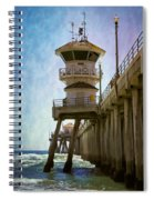 Dreamy Day At Huntington Beach Pier Spiral Notebook