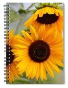 Dreamy Sunflower Day Spiral Notebook
