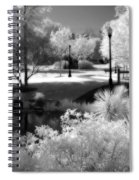 Surreal Infrared Black White Infrared Nature Landscape - Infrared Photography Spiral Notebook