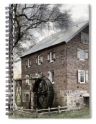 Dreary Skies At Kerr Gristmill Spiral Notebook