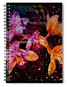 Drenched Flowers Spiral Notebook