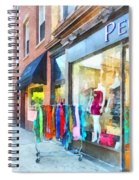 Hoboken Nj Dress Shop Spiral Notebook