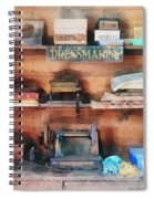 Dressmaking Supplies And Sewing Machine Spiral Notebook