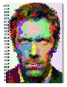 Dr. House Portrait - Abstract Spiral Notebook