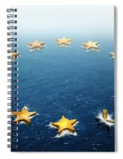 Drifting Europe Spiral Notebook