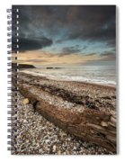 Driftwood Laying On The Gravel Beach Spiral Notebook