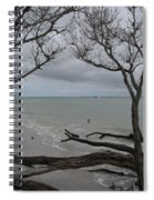 Driftwood On The Beach Spiral Notebook