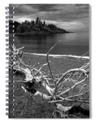 Driftwood On The Shore Near Wawa Ontario Canada Spiral Notebook