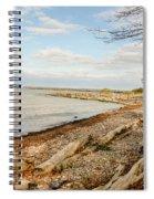 Driftwood On Shore Spiral Notebook