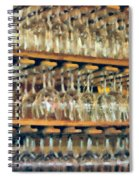 Drinks On The House In Smoky Gold Spiral Notebook