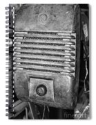 Drive In Movie Speaker In Black And White Spiral Notebook