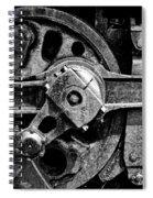 Drive Wheel - 190 - Bw Spiral Notebook