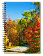 Driving Through Autumn Spiral Notebook