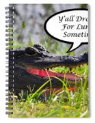 Drop In For Lunch Greeting Card Spiral Notebook