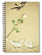 Dropped Flower Spiral Notebook
