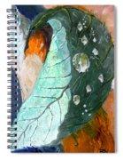 Drops On A Leaf Spiral Notebook