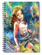 Drowning In Love Spiral Notebook