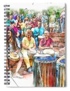 Drum Circle Of Friends Spiral Notebook