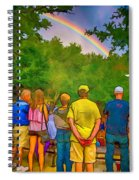 Drum Circle Rainbow Spiral Notebook