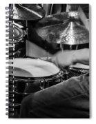 Drummer At Work Spiral Notebook