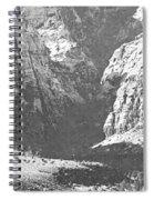 Dry Desert Waterfall Pencil Rendering Spiral Notebook