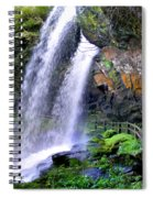 Dry Falls 2 In Western North Carolina Spiral Notebook