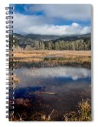 Dry Lagoon In Winter Panorama Spiral Notebook