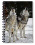 Dual Howl Spiral Notebook