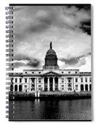 Dublin - The Custom House - Bw Spiral Notebook