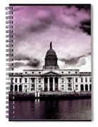 Dublin - The Custom House - Lilac Spiral Notebook