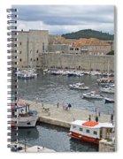 Dubrovnik Old Harbour Spiral Notebook
