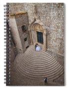 Dubrovnik Wedding Portrait Spiral Notebook